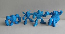 1990's Mega Man / Rockman 4 x Blue Keshi Figures - Capcom - Frostman, Zero