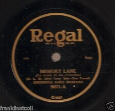 Continental Dance Or on 78 rpm Regal 9671: Memory Lane/Adoration Waltz