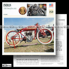 #032.09 INDIAN 1000 POWERPLUS USINE 1920 Fiche Moto 1920's Motorcycle Card