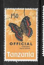 TANZANIA SC#024 1973 OFFICIAL 1.50SH BUTTERFLY POSTALLY USED STAMP