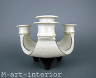 Keramik Kerzenhalter HYLLESTED triangular studio pottery candle holder Denmark
