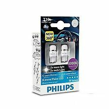 coppia Philips Wedge base t10 X-TREME VISION 6000k Xenon LED w5w