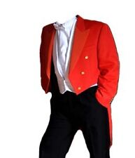 "Red Toastmaster Tailcoat - (Finest Barathea Wool) 46"" Long"