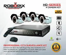 CAMERA CCTV SECURITY SYSTEM 1.3 MP BULLET AHD DVR 4 CH KIT 4 channel 720p HD IR