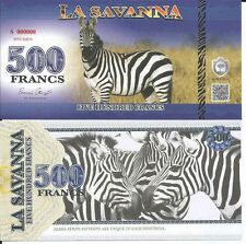 LA SAVANNA 500 FRANCS 2015 SPECIMEN LOTE DE 5 BILLETES