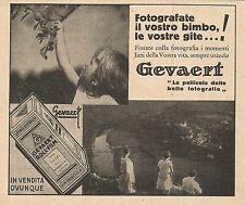 Z0393 Gevaert - Fotografate il vostro bimbo - Pubblicità del 1931 - Advertising