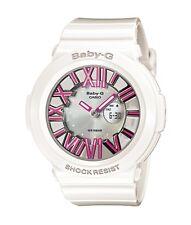 Casio Baby-G * BGA160-7B2 Neon Illuminator Pink Numbers White Resin COD PayPal