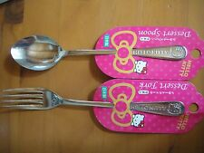 Hello Kitty Stainless Steel Spoon & Fork Sanrio Japan Ribbon version cute