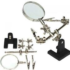 3 Hands Magnifying Tool Magnifier Station Stand Holder 360 Degree Soldering Iron