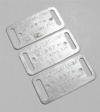 LOT of 3 Old 1937 Aluminum Dog License Registration Tags PAGE COUNTY IA Iowa