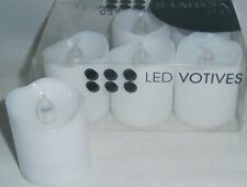LED Votive Candles  Set Of 6  White  Flameless,Battery Operated FREE SHIPPING