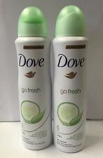 2 pk Dove Deodorant Spray - Go Fresh - Cucumber & Green Tea - 150 Ml