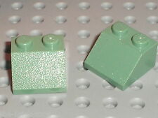 2 x LEGO SandGreen Slope Brick 3639 / Set 10132 4719 4752 4753 7194 4842 4867...