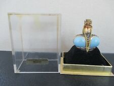 "Vintage PRINCE MATCHABELLI ""Beloved"" Mini Blue Crown Shaped Perfume in Box"