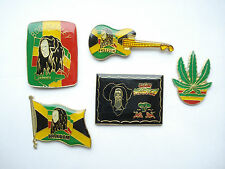VINTAGE BOB MARLEY REGGAE MUSIC LEGEND GUITAR PIN BADGE JOB LOT BUNDLE ONE LOVE