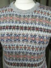 Vintage 70s Laura Ashley 100% Wool Fair Isle Jumper- Small