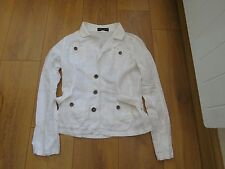 Dorothy Perkins - Women's White Linen Jacket - Size 8