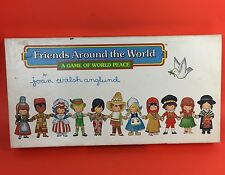 Friends Across The World Board Game World Peace COMPLETE Vtg It's A Small World