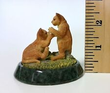 WWF Lion Cubs Resine Figurine. World Wildlife Fund