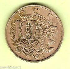 1969  AUSTRALIAN VERY CIRCULATED 10 CENT COIN