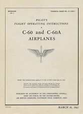 LOCKHEED C-60 & C-60A PILOT'S FLIGHT OPERATING INSTRUCTIONS + LODESTAR AOM