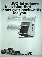 Vintage 1969 'JVC 3210' Portable TV Television Advert - Original Photo Print AD