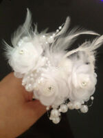 1 Piece New Crystal Pearl White Flower Wedding Bridal Party Hair Pin Clips