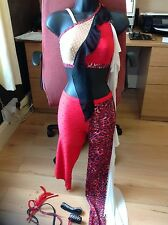 STUNNING USED DANCE COSTUME ,traveller rigout,,latin,disco,slow  FR