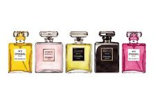 CHANEL NO 5 PERFUME ROW OF BOTTLES IMAGE A4 Poster Laminated Gloss Print (New)