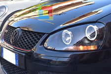 VW GOLF 5 03-08 FARI ANTERIORI ANGEL EYES LED BIANCHI + KIT H7 CREE XENO LED