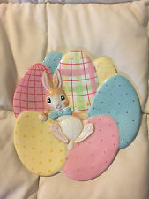 FITZ AND FLOYD A GOOD EGG PASTEL EASTER BUNNY RABBIT PLATE DISH CANDY TRAY