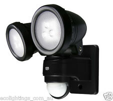 Philips Outdoor PIR Motion Sensor LED Garden Flood Light Twin Head Spot 2 x 7.5W