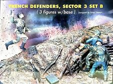 Jaguar 1:35 Trench Defenders Sector 3 Set B 3 Resin Figures w/ Base 63606