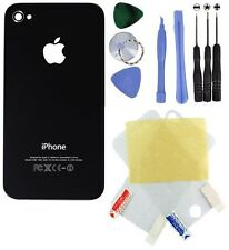 New - Black - iPhone 4 Back Cover Replacement + 8 In 1 Tools + Screen Protectors