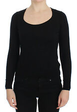 NWT $1200 DOLCE & GABBANA Black Wool Crewneck Sweater Pullover Top IT38/ US4 /XS