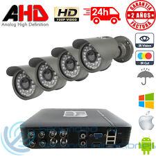 KIT AHD 720p DVR 8CH H264 + 4 CAMARAS EXTERIOR IP66 CCTV HD P2P VIDEOVIGILANCIA