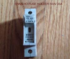 SHAN HO FUSE HOLDER BLOCK   DIN RAIL 30 AMP 500 VOLT