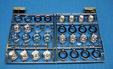 AMT Parts Pack Wheels & Rims-Halibrand-Chrome Reverse-More-All NEW-1/25 Scale