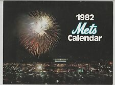 1982 NEW YORK METS CALENDAR STADIUM GIVE AWAY SGA PLAYER PHOTOS EVERY MONTH NM