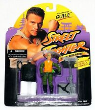 Street Fighter Paratrooper Guile Official Movie Fighter Hasbro Capcom 1994 MOC