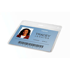 GBC BadgeMates Horizontal Badge ID Holder, 4 x 3, Ultraclear, Pack of 10