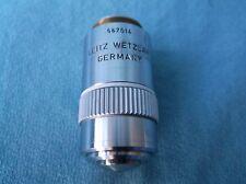 LEITZ WETZLAR GERMANY OBJECTIVE PL FLUOTAR 100X/0.90
