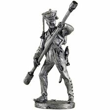 Army artillery Bombardier. Tin toy soldiers. 54mm figurine. metal sculpture