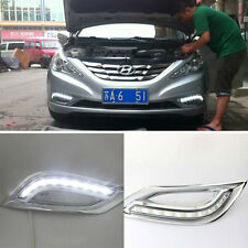 White LED Daytime Running Lamp Fog Lights For Hyundai Sonata 2011-2012
