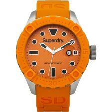 Superdry SYG140O Mens Scuba Deep Sea Orange Silicone Strap Watch