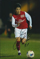Ryo MIYAICHI SIGNED Autograph 12x8 Arsenal Photo AFTAL COA Japanese Footballer