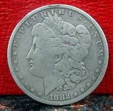Very Scarce R-4 Tilted O Doubled Reeding 1882 O Silver Morgan Dollar VAM-6