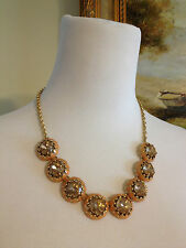 "New J Crew Factory Sweet Cantaloupe Cupcake Necklace 19.5"" - 22.5""  Length"