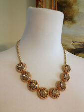"""New J Crew Factory Sweet Cantaloupe Cupcake Necklace 19.5"""" - 22.5""""  Length"""