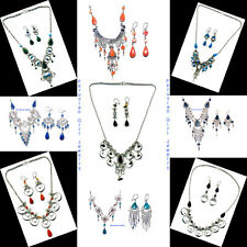 20 STONE GLASS NECKLACES EARRINGS PERUVIAN JEWELRY PERU WHOLESALE ALPACA SILVER